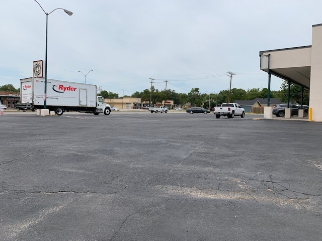 Paving a Shopping Center Lot during Redevelopment